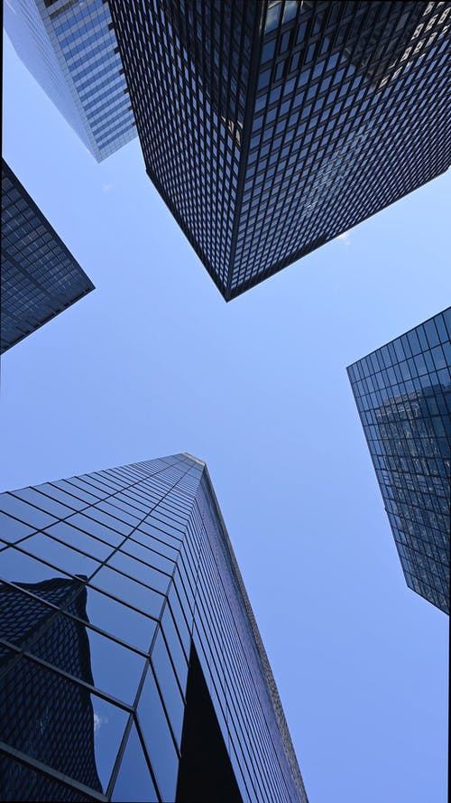 Low Angle Shot of a Tall Buildings