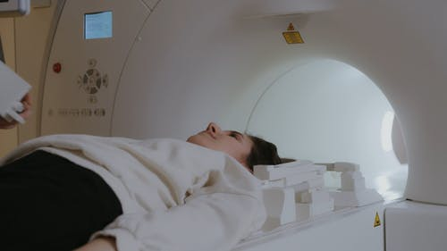 A Patient Undergoing Computed Tomography Scan