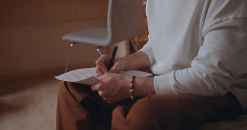 A Man Composing a Music