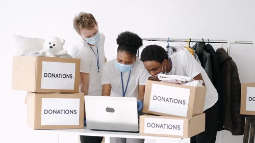 People Preparing the Donations