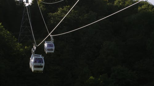 People Riding Cable Cars