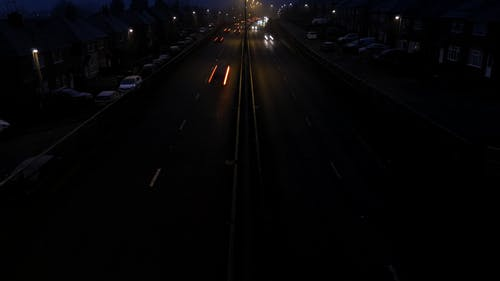 Time-lapse of the Cars on the Road at Night Time