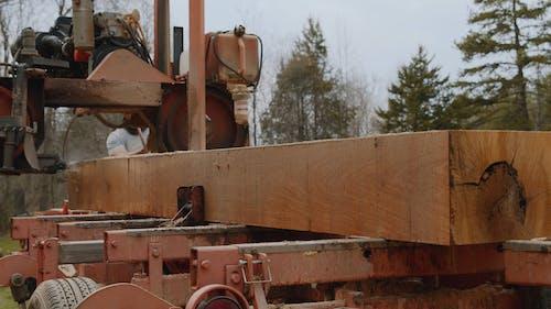 Video of a Machine Cutting Wood