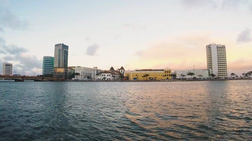 Sea Water of City Background