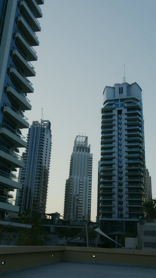 Vertical shot of a Tall Buildings