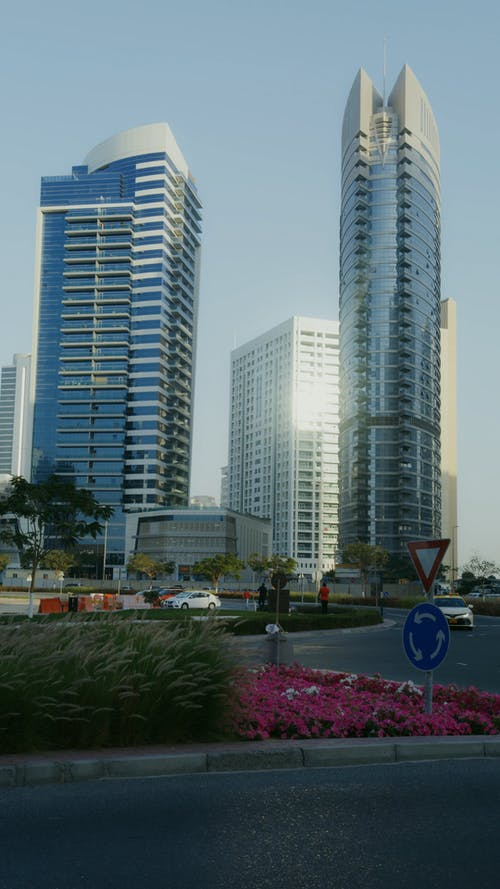 View of Tall Buildings in the City