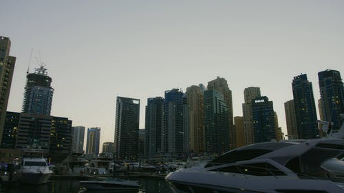 Tall Buildings Beside a Bay