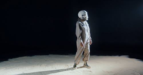A Woman In The Moon In A Conceptual Video