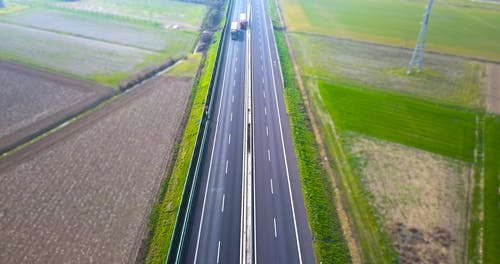 Aerial Shot of a Highway