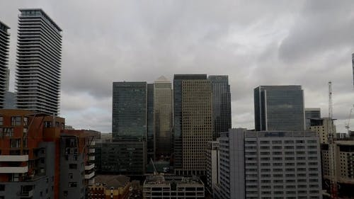 Time-Lapse Footage of Clouds Hovering on a City