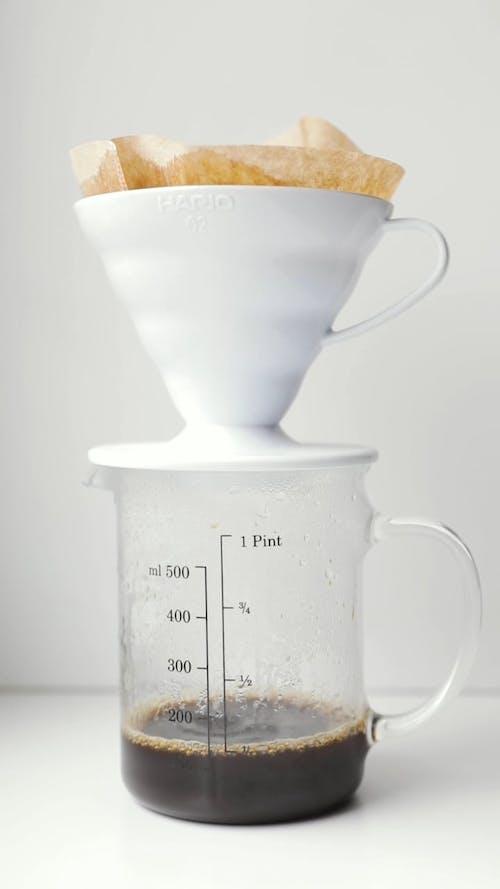 Coffee Espresso in a Clear Measuring Cap