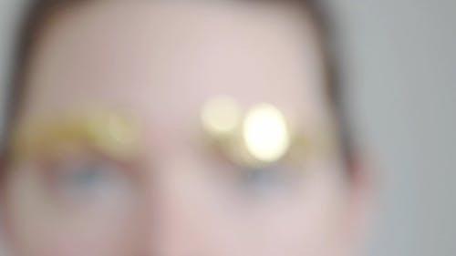 Golden Eyebrow Accessory