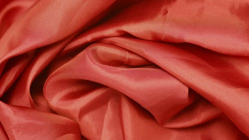 Close Up Shot of a Red Fabric