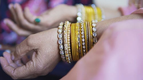 Woman With Fashionable Bracelets
