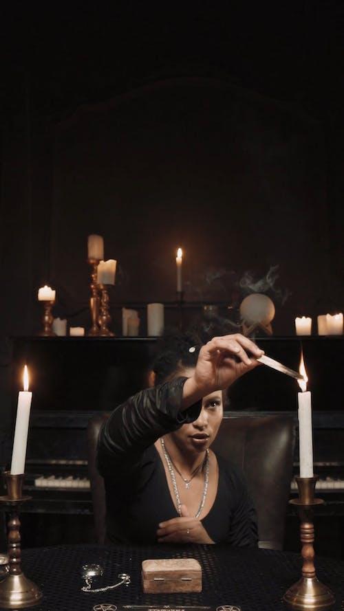Woman Doing Ritual