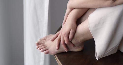 Close-Up Video of a Feet of a Woman