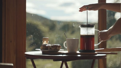 Pouring Brewed Coffee
