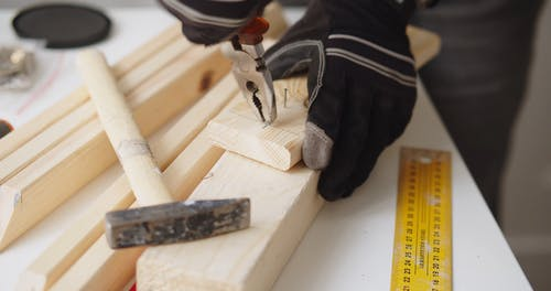 A Carpenter is Working