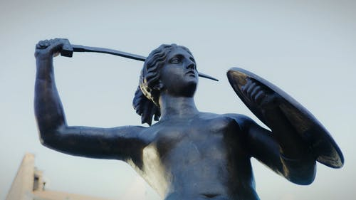 The Statue Of Syrenka In Warsaw Poland