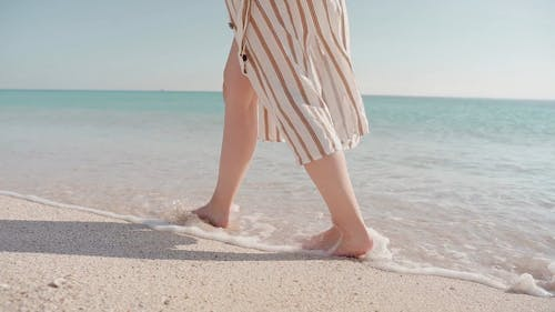 Walking Barefoot in the Shore