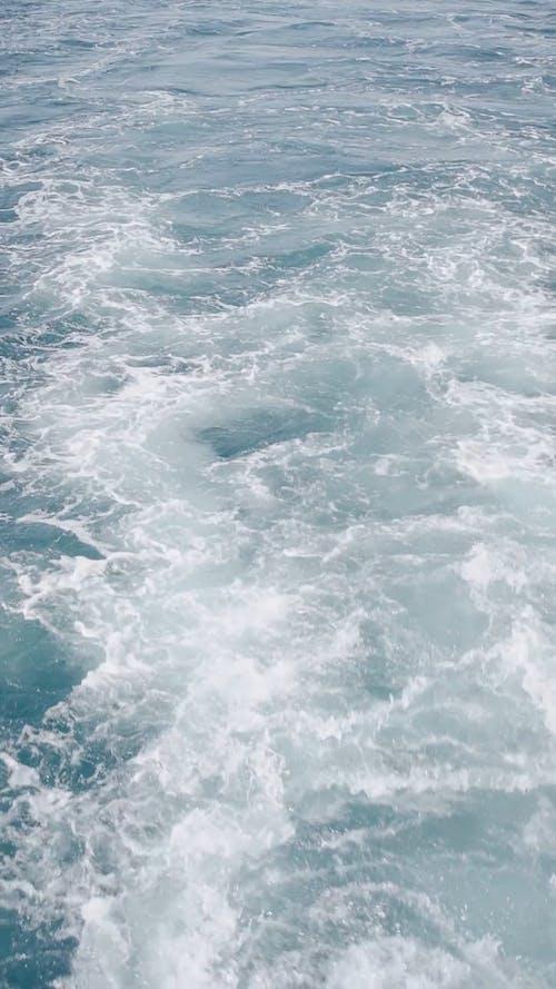 Wake Behind Boat