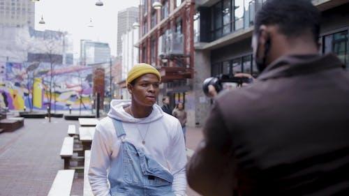 A Man Posing for a Camera