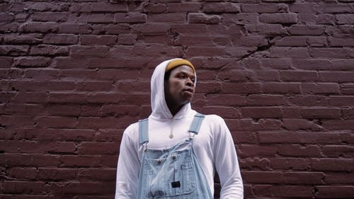 Video of a Man wearing Bonnet and Hoodie