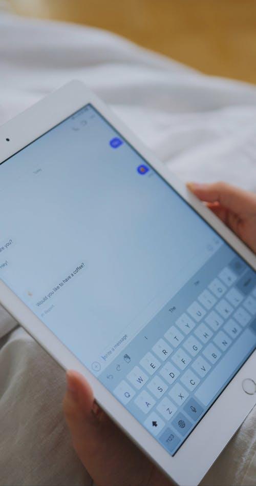 Person Chatting using iPad
