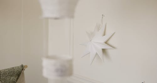 White Decor Hanging on Wall
