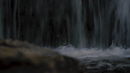 Close-up Video of a Waterfalls