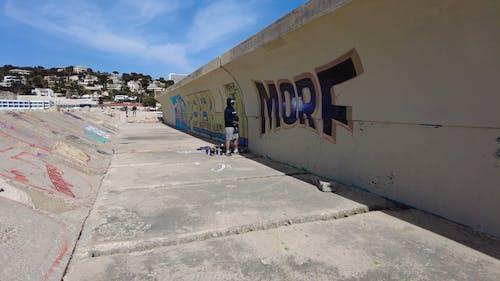 Man Graffiti Artist Painting the Wall