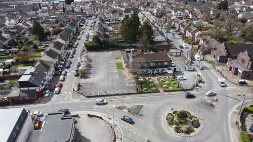 Drone Footage of Residential Area