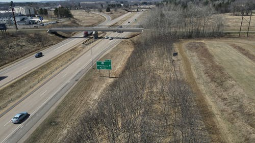 Drone Footage of a Highway