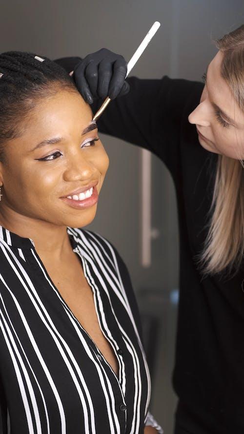 A Makeup Artist Working