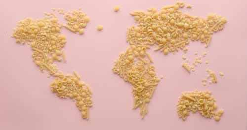 Map Illustration Using Pasta