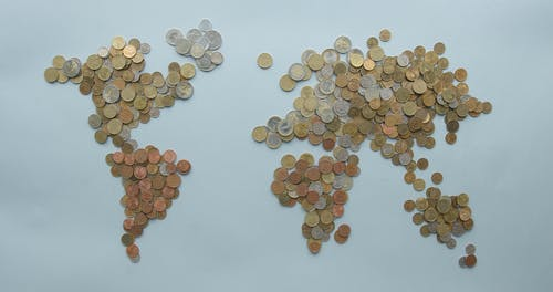 Map Illustration Using Coins