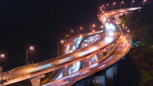 Time-Lapse of Light Trails