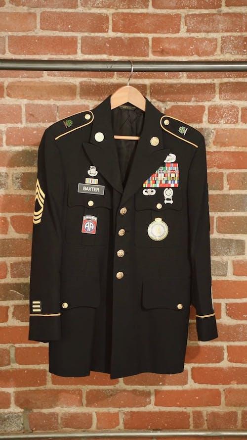 Veteran Uniform Hanged on a Steel