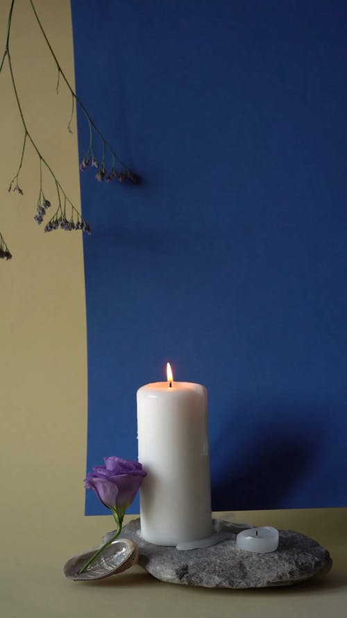 Product Shot of a Lighted Candle