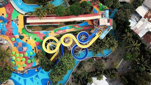 Top View of a Water Park