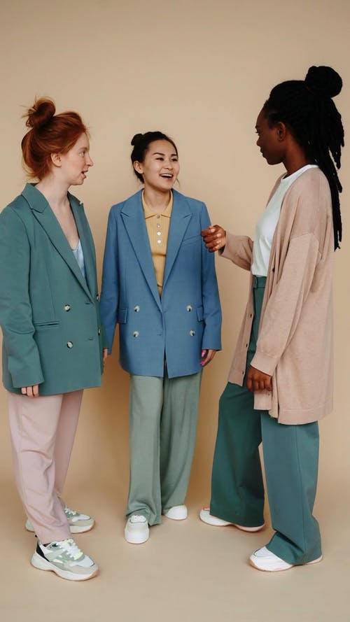 Models Wearing Colored Clothes