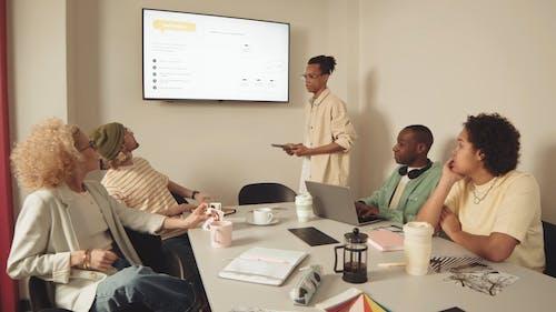 Man Giving a Presentation at Work