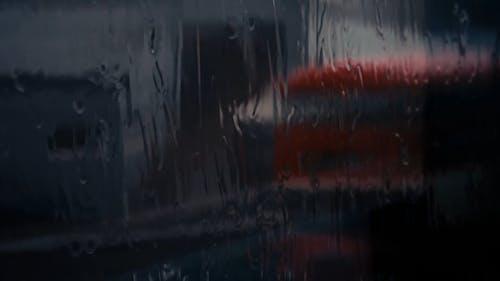 Close-Up View of Raindrops