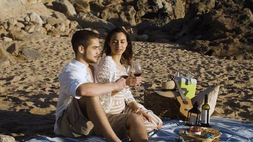 A Couple Having a Romantic Picnic Date