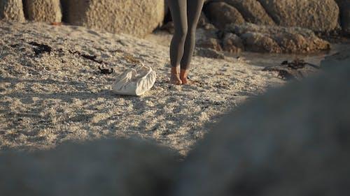 Woman Preparing the Yoga Mat