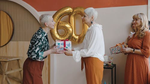Friends Giving Birthday Gift