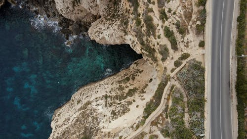 Drone Footage of a Cliff Edge