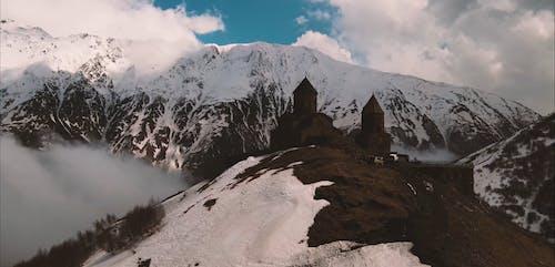 Castle in Snowy Mountain