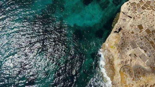 An Aerial Footage of a Coast
