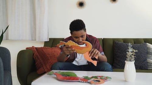 A Boy Doing Craft Making